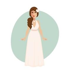 Beautiful bride woman in a wedding dress vector image vector image