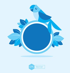 blue Bird Sign 2 vector image vector image