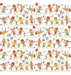 happy kid cartoon doodle drawing like children vector image vector image