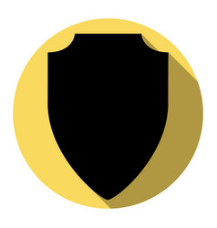 shield sign flat black icon vector image