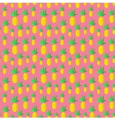 Colorful summer pineapples vector image vector image