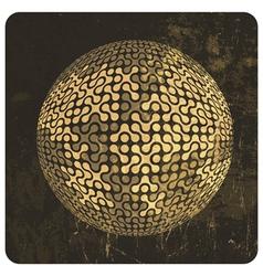 grunge globe vector image