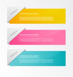 Infographic template for business web design vector image