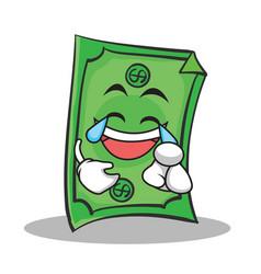 joy face dollar character cartoon style vector image
