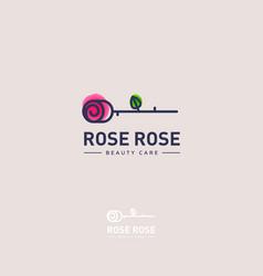 rose logo rose emblem vector image
