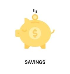 savings icon concept vector image