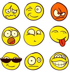 Smiley Doodle vector image