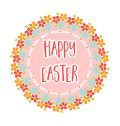 sticker happy easter easter single icon in vector image