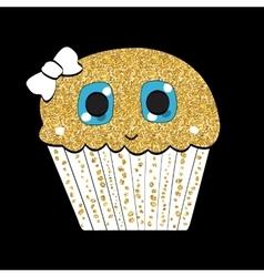 Sweet Tasty Cupcake vector image