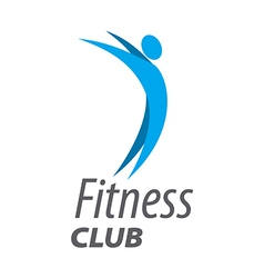 Abstract logo for fitness club vector image