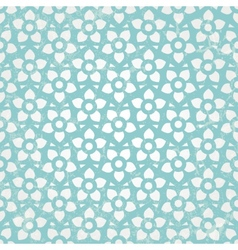 Blue floral wallpaper seamless background vector image vector image