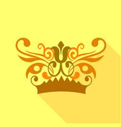 crown decorative design elements icon vector image