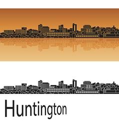 Huntington skyline in orange vector image vector image