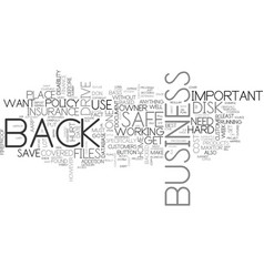 Is your business safe text background word cloud vector