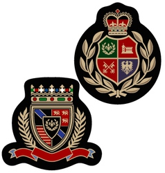 royal emblem badge vector image