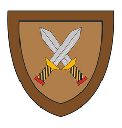 shield with warrior sword vector image