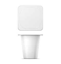 White yougurt pot template vector image