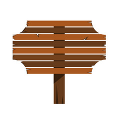 Wood sign in white background vector