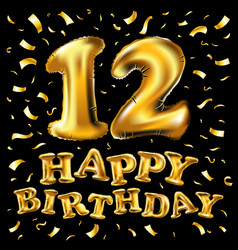 12 years anniversary celebration design vector