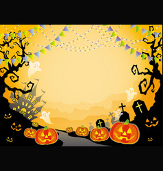 a seamless halloween landscape vector image