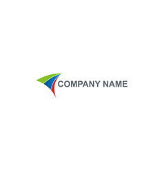 abstract arrow company logo vector image