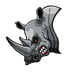 Angry Rhino Head vector