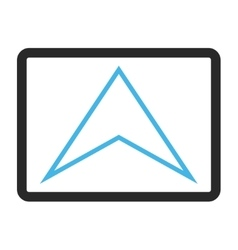Arrowhead Up Framed Icon vector