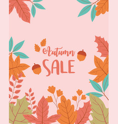 autumn sale shopping sale or promo poster tree vector image