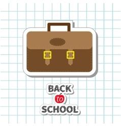 Back to school Big brown schoolbag briefcase on vector image