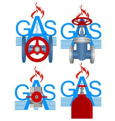 Badges gas industry vector