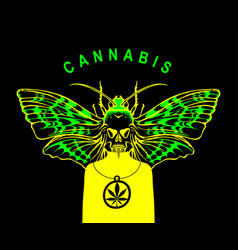 Banner for legalize cannabis with fictional person vector