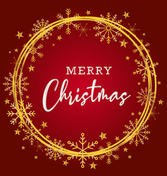 beautiful merry christmas greating background in vector image
