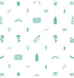 Beauty icons pattern seamless white background vector
