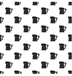 big beer mug pattern seamless vector image