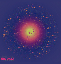 Big data blue visualization vector