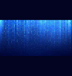 binary matrix 1 0 bits blue abstract background vector image