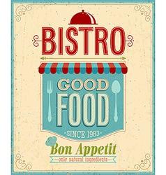 bistro vintage vector image vector image