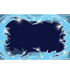 blue frosty christmas background vector image