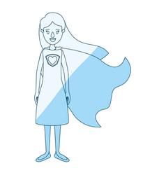 blue silhouette shading cartoon full body super vector image