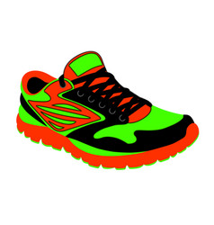 bright running shoes in vector image