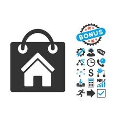 Buy Home Flat Icon with Bonus vector image