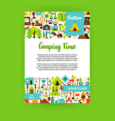camping time poster vector image