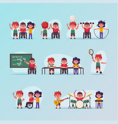 Character disabled children vector