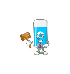 Charismatic judge wall hand sanitizer with glasses vector