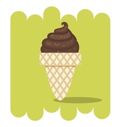 Chocolate ice cream vector image
