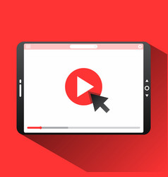 click video vector image