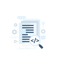 code review software development vector image