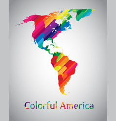 colorful america vector image