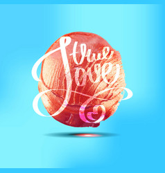 conceptual hand drawn phrase true love vector image
