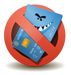 Credit card not allowed vector
